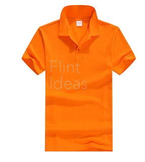Polo恤_男裝橙色