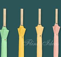 雨傘, 自動雨傘, 折疊傘 -16骨純色長柄雨傘01