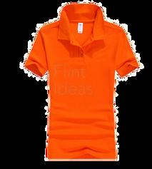Polo恤_女裝深橙色