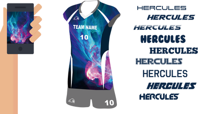 Hercules-排球衫,熱昇華排球衫