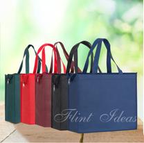 環保袋, 環保袋訂造 -無紡布加厚拉鍊環保袋01