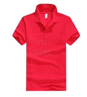 Polo恤_女裝深粉紅色