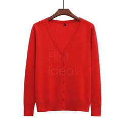 Cardigan jacket_大紅
