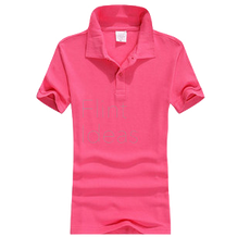 Polo恤_女裝亮粉紅色