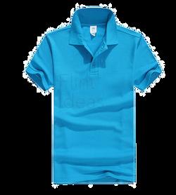 Polo恤_男裝淺藍色