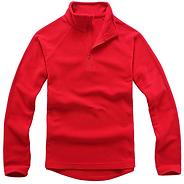拉鏈衛衣,立領拉鏈衛衣_紅色