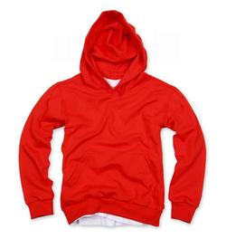 套頭衛衣,360g 毛圈套頭衛衣_紅色