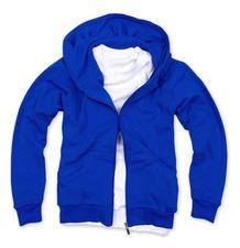 拉鏈套頭衛衣,毛圈拉鏈套頭衛衣_藍色