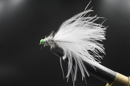 White & Silver Humungous Green Eyes