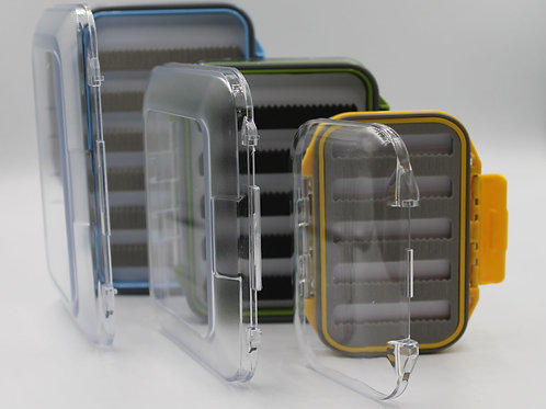 Full Sized, Clear Plastic, Double Sided Premium Fly Box
