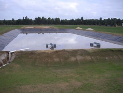TMC designed wastwater treatment lagoon for