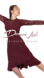 instagram IGTV Burgundy Long Sleeve Dres