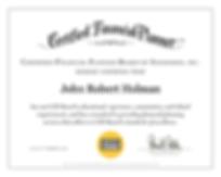 CFP certificate award
