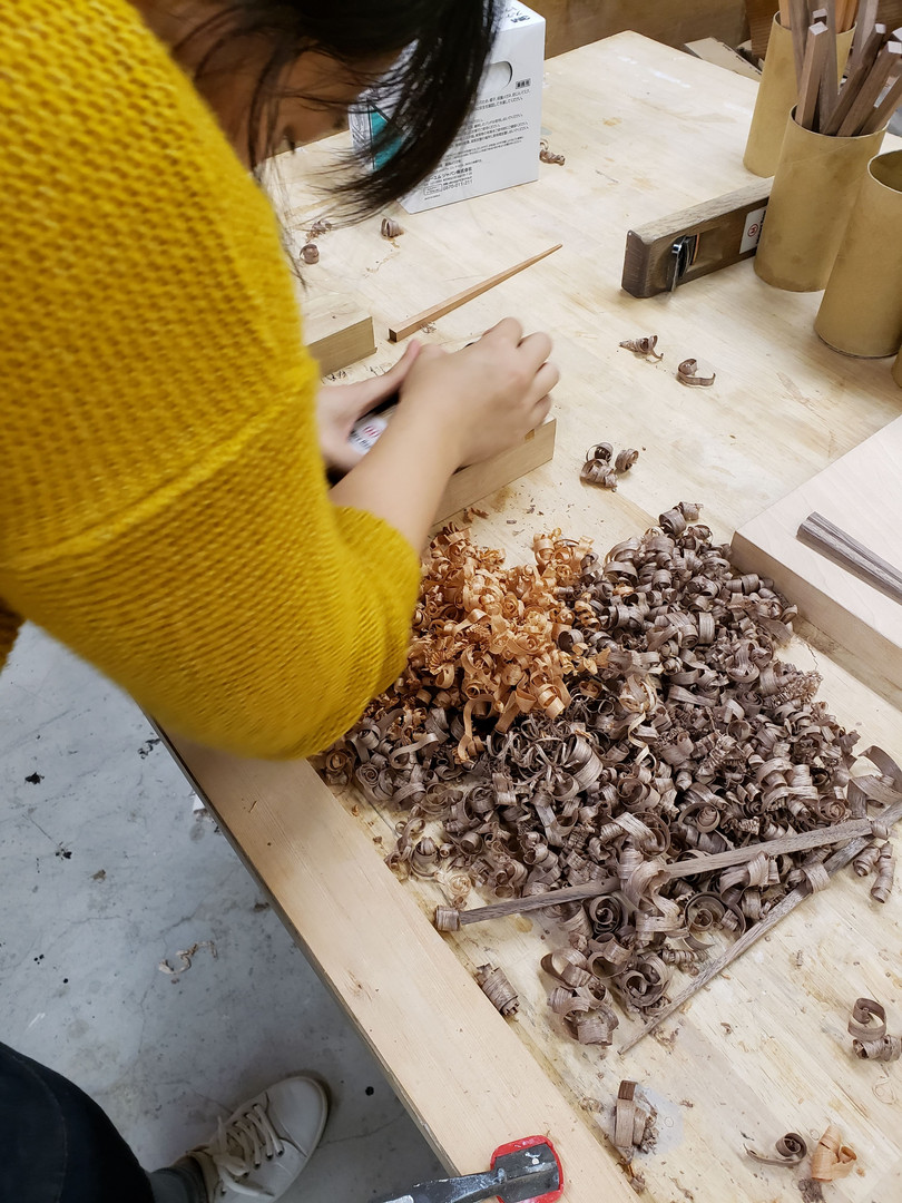 woodworking San Francisco using a hand planer