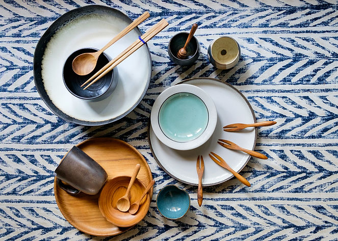 Handcrafted Ceramic and Wooden tableware
