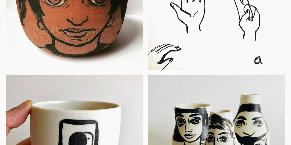 Crossing Over from Ink to Underglaze w/ Holly Coley