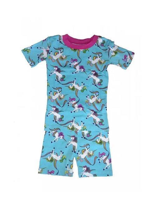 Rainbow Unicorn Organic Cotton Pajama Short Set