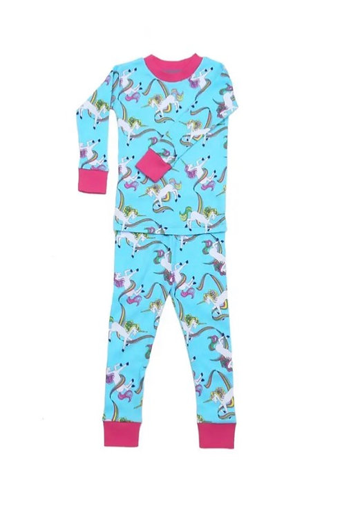 Rainbow Unicorn Organic Cotton Pajama Set