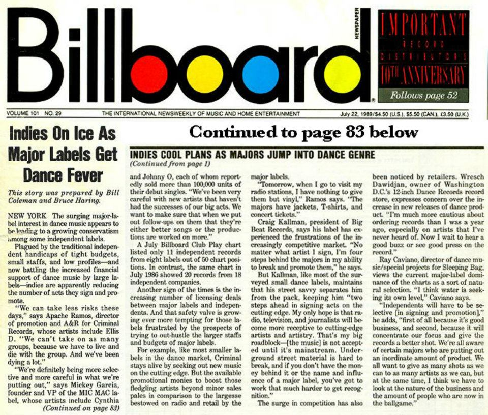 Billboard Indie On Ice