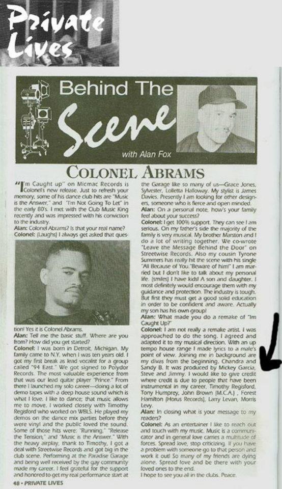 Private Lives Colonel Abrams