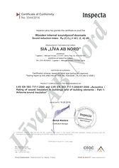 SIA Liva AB Nord ražo skaņu izolējošas durvis