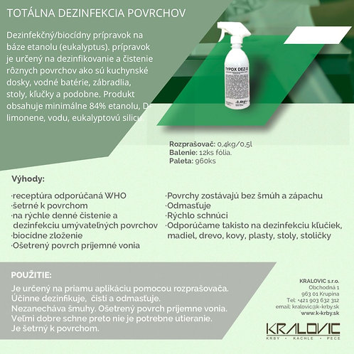 Rozprašovač 4ks TYPOX DEZ-S - Totálna dezinfekcia povrchov