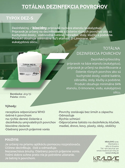 Bandaska TYPOX DEZ-S - Totálna dezinfekcia povrchov