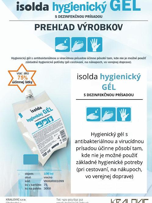 Vrecko: Isolda Hygienický gél