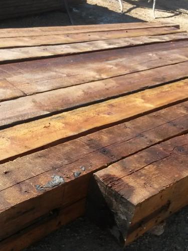 Reclaimed rough sawn beams