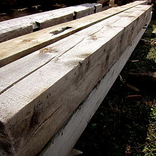 reclaimed rough sawn beams