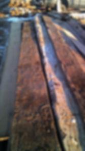 Reclaimed hand hewn beam skins