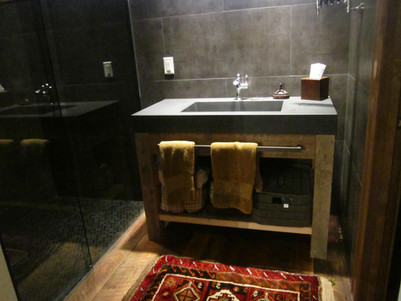 reclaimed barn wood bathroom vanity