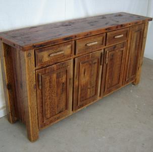 Reclaimed barn wood buffet