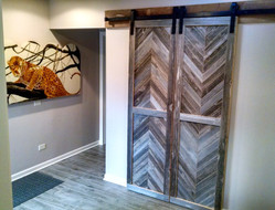 reclaimed barn wood doors and hardware