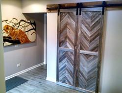 reclaimed barn wood doors and hardware