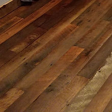Reclaimed rustic barn wood flooring
