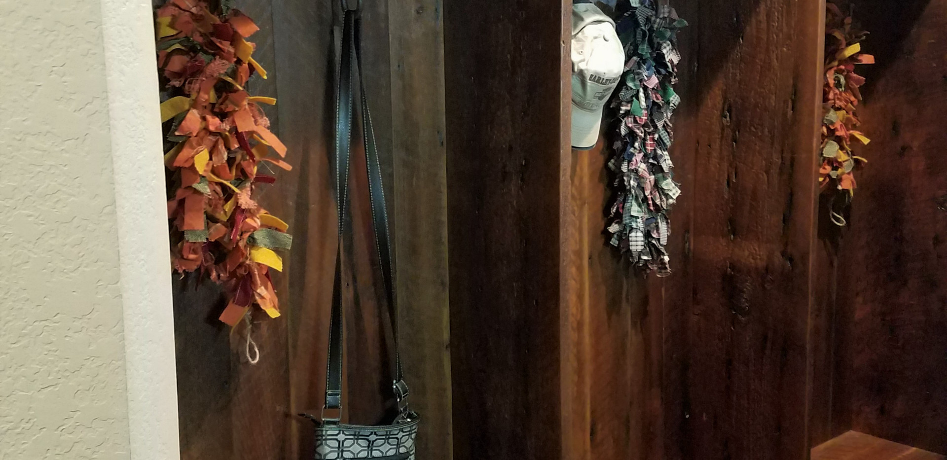 Reclaimed barn wood lockers