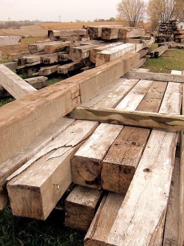 Rustic reclaimed rough sawn beams