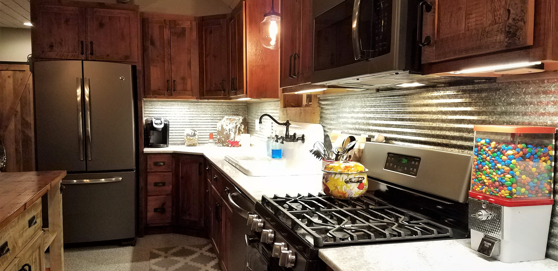 Reclaimed barn wood cabinetry