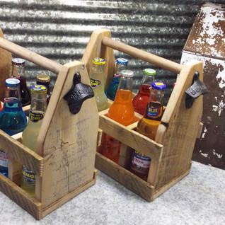 Reclaimed barn wood 6 pack carrier