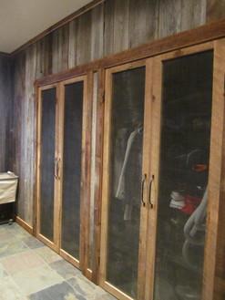 reclaimed barn wood closet doors