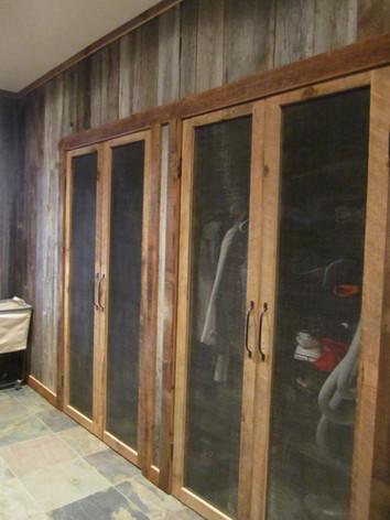 barn wood closet doors
