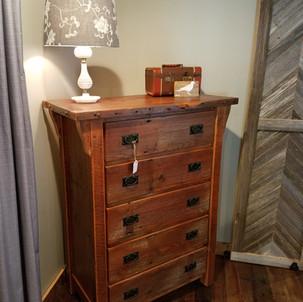 Reclaimed barn wood dresser