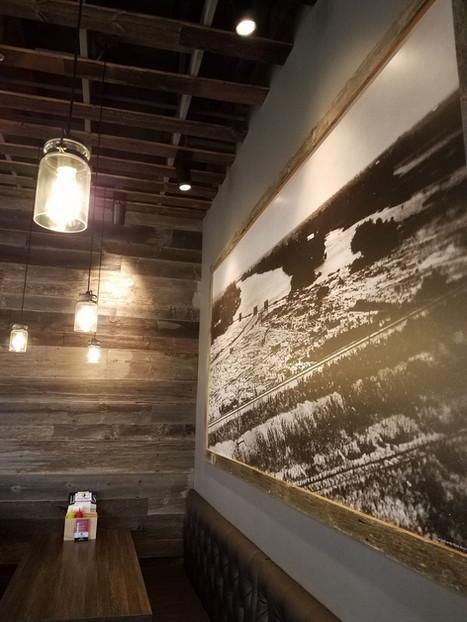 David Reay/s Modern Diner + Tavern reclaimed barn wood