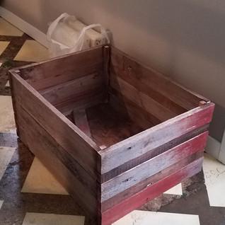 Reclaimed barn wood crate
