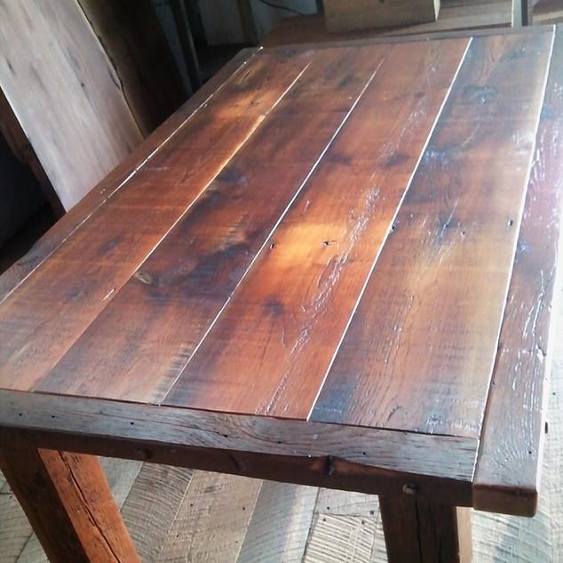 Reclaimed standard barn wood table