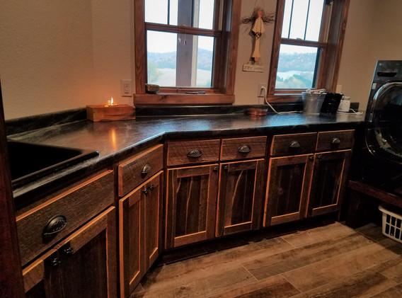 reclaimed barn wood cabinets