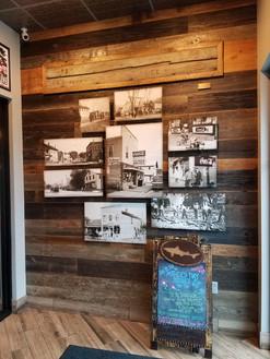 reclaimed faded gray barn wood siding, finished