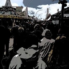 Harbour Crowds, Landungsbrücken Abstract, IMG 6763