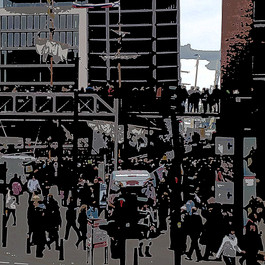 Harbour Crowds, Hafencity Abstract, IMG 6760